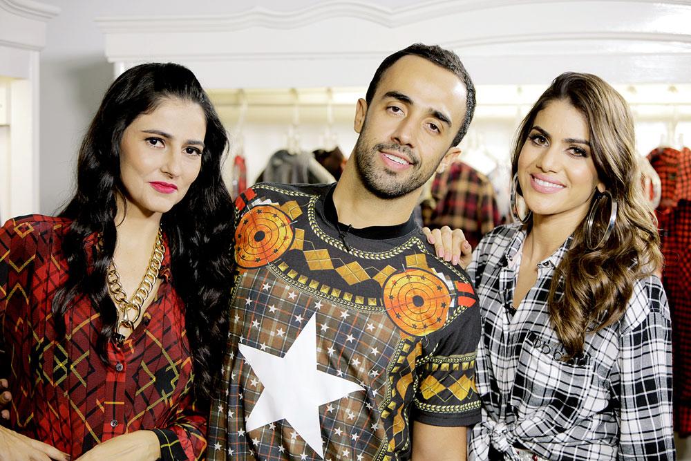 Eu e Camila usando o xadrez de maneira fashion e criativa!